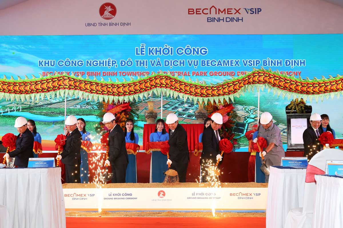 Lễ khởi công KCN Becamex Bình Định