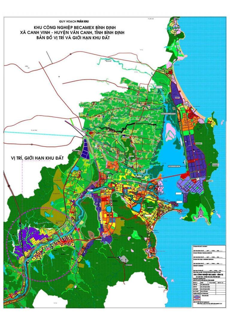 Quy Hoạch tổng thể KCN Becamex Bình Định tại Canh Vinh Vân Canh