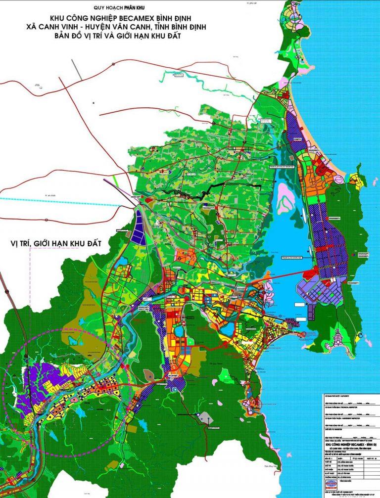 Canh Vinh Vân Canh vị trí dự án KCN Becamex Bình Định