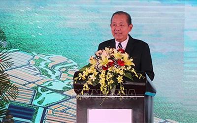 Phó Thủ tướng Thường trực Trương Hòa Bình phát biểu tại buổi lễ