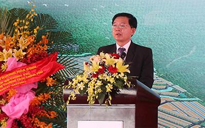 Ông Hồ Quốc Dũng, Chủ tịch UBND tỉnh Bình Định phát biểu tại buổi lễ